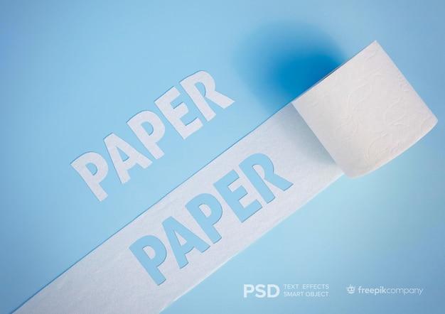 Efeito de texto com toalha de papel