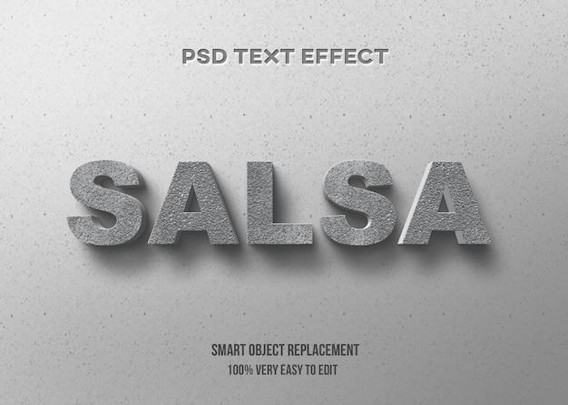 Efeito de texto concreto 3d