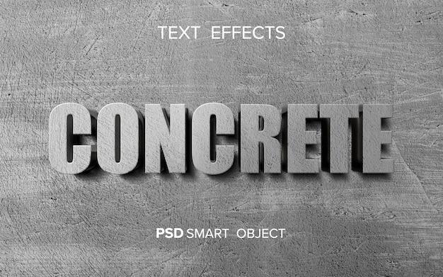 Efeito de texto concreto abstrato