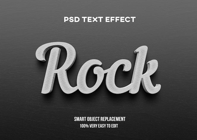 Efeito de texto concreto realista