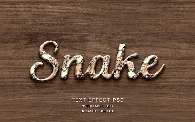 Efeito de texto criativo de cobra