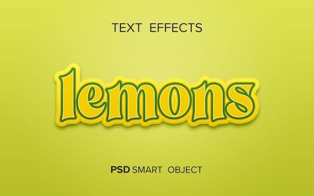 Efeito de texto criativo de frutas