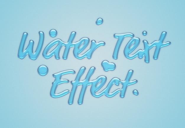 Efeito de texto de água azul