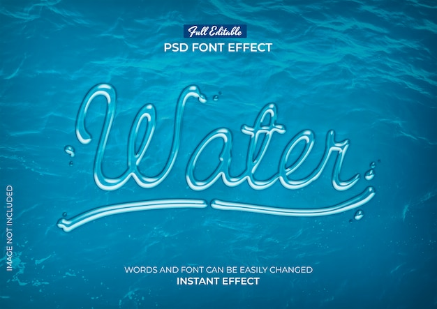 Efeito de texto de água