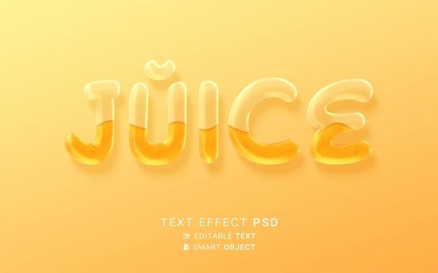 Efeito de texto de alimento líquido
