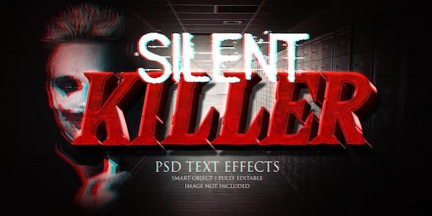 Efeito de texto de assassino silencioso