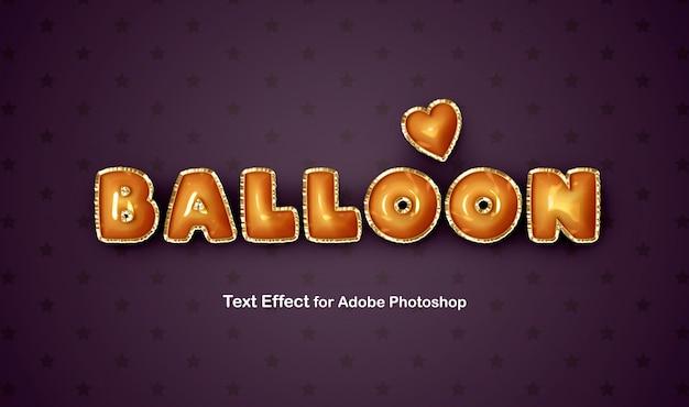 Efeito de texto de balão de alumínio