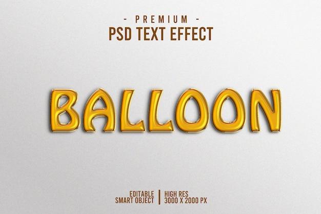 Efeito de texto de balão