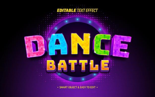Efeito de texto de batalha de dança