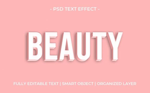 Efeito de texto de beleza 3d