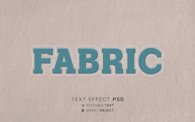Efeito de texto de bordado criativo