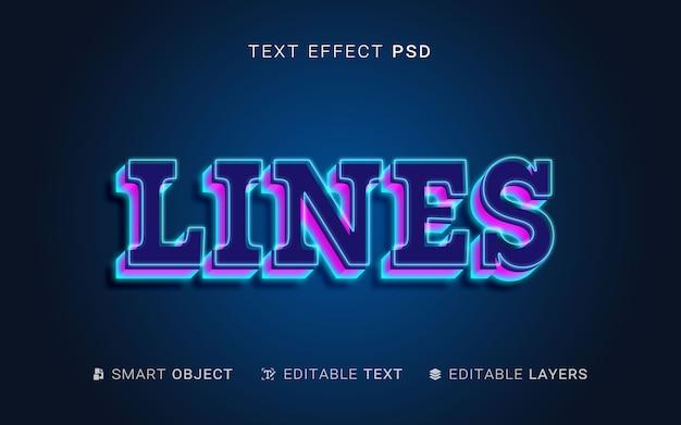 Efeito de texto de camadas
