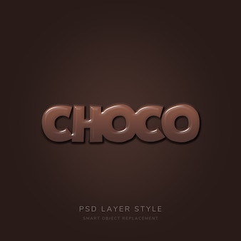 Efeito de texto de chocolate