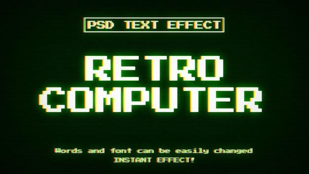 Efeito de texto de computador retro
