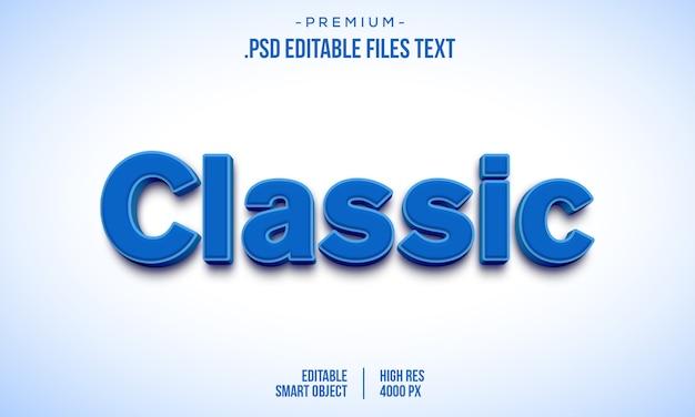 Efeito de texto de cor azul clássico efeito de estilo de texto 3d, conjunto elegante efeito de texto abstrato roxo rosa aniversário