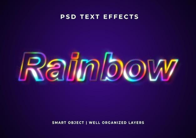 Efeito de texto de cor de arco-íris