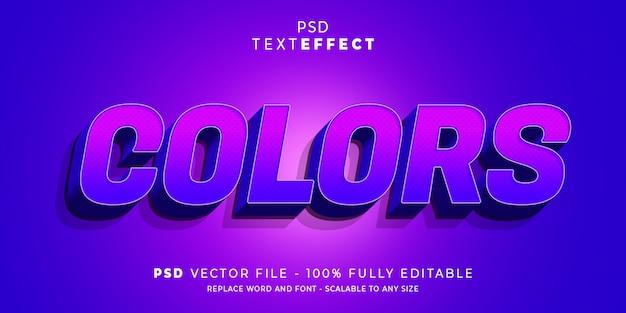 Efeito de texto de cores