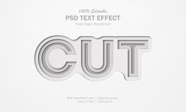 Efeito de texto de corte de papel