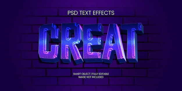 Efeito de texto de criação