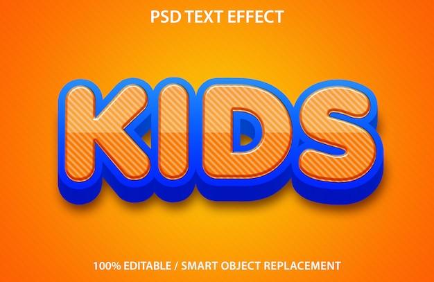 Efeito de texto de crianças