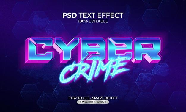 Efeito de texto de crime cibernético