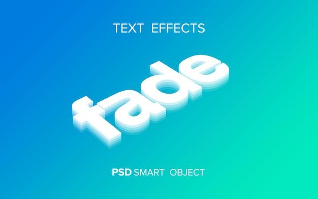 Efeito de texto de desaparecimento criativo