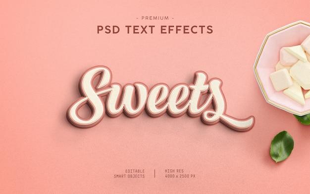 Efeito de texto de doces