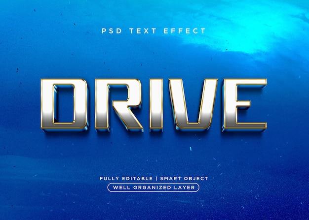 Efeito de texto de drive de estilo 3d