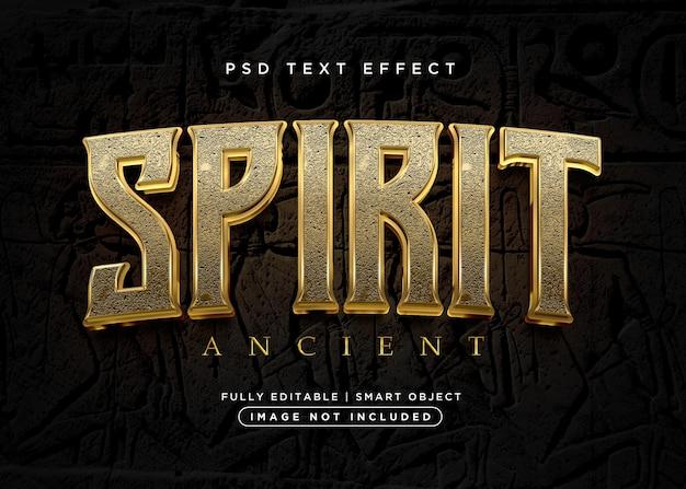 Efeito de texto de espírito de estilo 3d