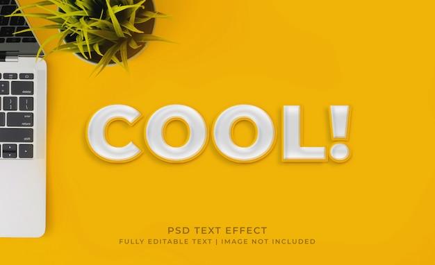 Efeito de texto de estilo de camada amarela