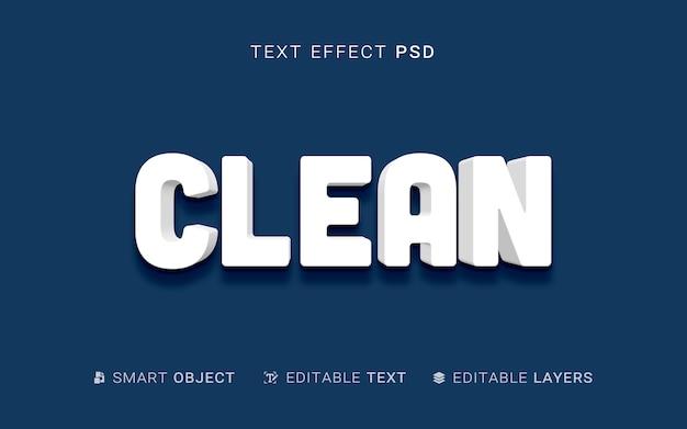 Efeito de texto de estilo de extrusão