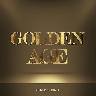 Efeito de texto de estilo de fontes de idade dourada
