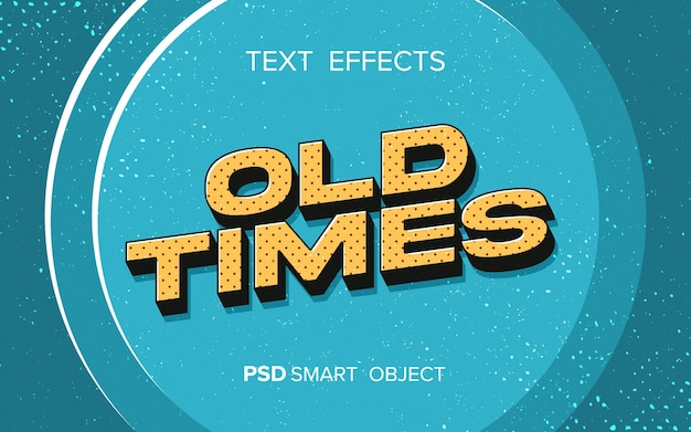 Efeito de texto de estilo retro