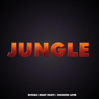 Efeito de texto de estilos de selva cinematográfica