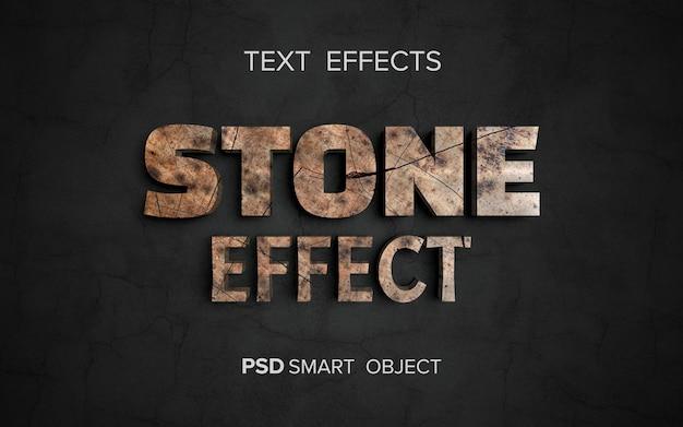 Efeito de texto de estrutura de pedra