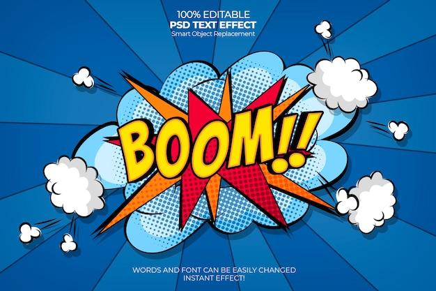 Efeito de texto de explosão em quadrinhos