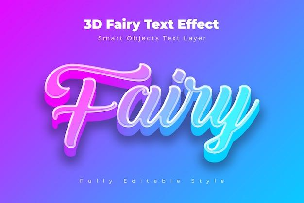 Efeito de texto de fadas 3d