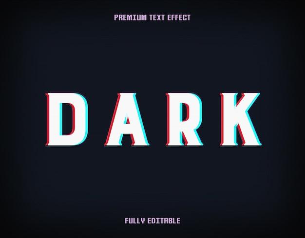 Efeito de texto de falha de néon escuro