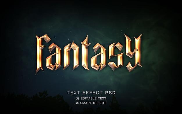 Efeito de texto de fantasia linda