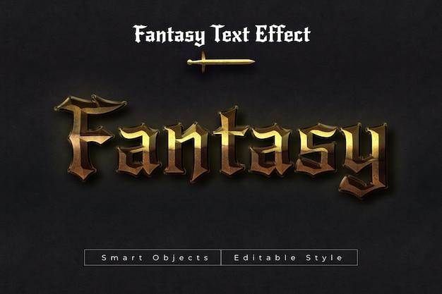 Efeito de texto de fantasia