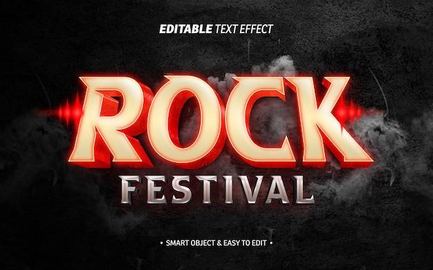 Efeito de texto de festival de rock