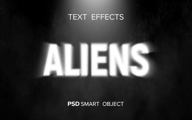 Efeito de texto de ficção científica