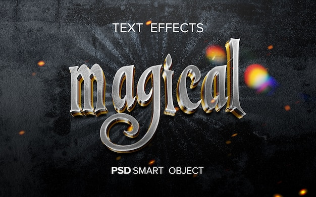 Efeito de texto de filme de fantasia