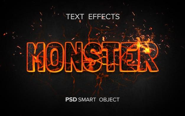 Efeito de texto de fogo criativo