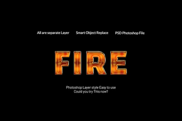 Efeito de texto de fogo