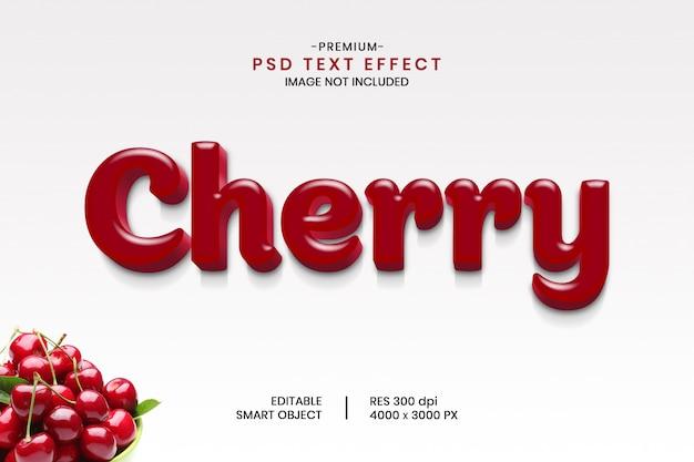 Efeito de texto de fruta cereja