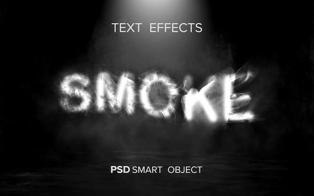 Efeito de texto de fumaça criativo