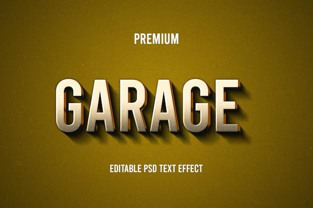 Efeito de texto de garagem