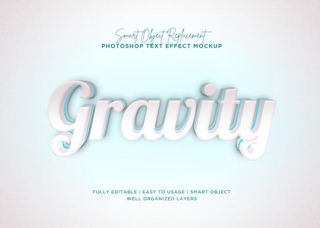 Efeito de texto de gravidade de estilo 3d