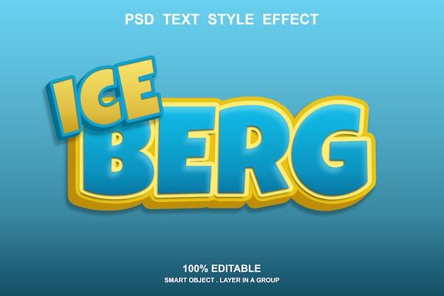Efeito de texto de iceberg